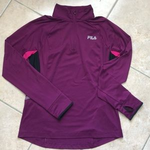 FILA Sport athletic pull-over top Lk new size M